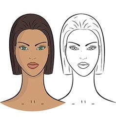 Female Portrait vector