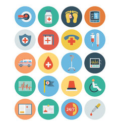 Flat Medical and Health Icons 5 vector image