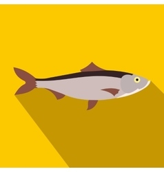Fresh fish icon flat style vector