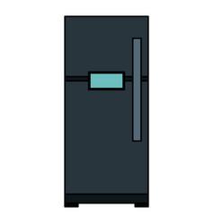 Fridge appliance isolated icon vector