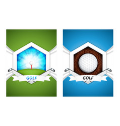 golf posters vector image