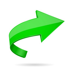 Green 3d arrow vector
