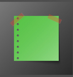 green post note paper with shadow vector image