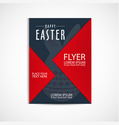 happy easter day flyer template eps file vector image