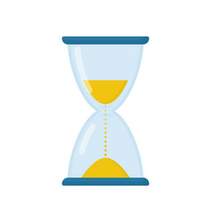 hourglass flat icon glass made sand clock vector image