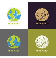 Inverted Earth - logo for travel company Planet vector image