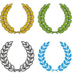 Laurel wreath set symbol triumph vector
