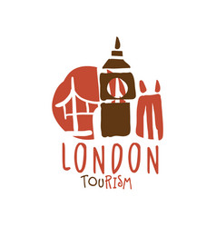 london tourism logo template hand drawn vector image