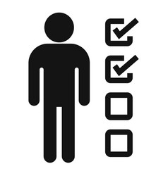 Man recruitment points icon simple style vector