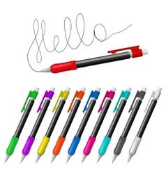 mechanical pencils vector image