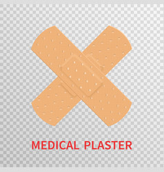 medical plaster isolated on transparent vector image