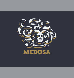 Medusa of the gorgon vector