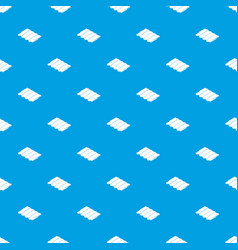 metal tile pattern seamless blue vector image