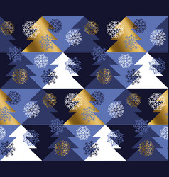new year and christmas tree geometric pattern vector image