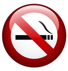no smoking mark vector image