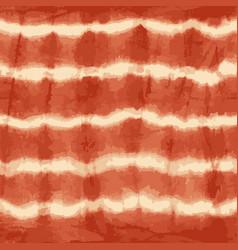 Orange tie dye stripes seamless pattern vector