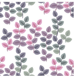 Pastel color abstract bush leaves seamless pattern vector