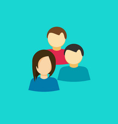 People group icon flat persons together vector