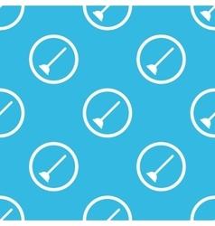 Plunger sign blue pattern vector