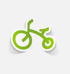 Realistic design element childrens bike vector