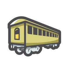 retro railway carriage icon cartoon vector image