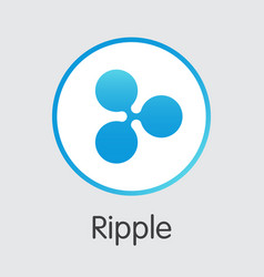 Ripple - cryptocurrency logo vector