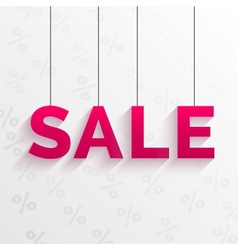 Sale tag Flat style design vector image