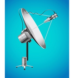 Satellite dish on blue background vector image