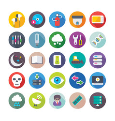 Science and technology colored icons 8 vector
