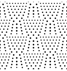 Seamless dot pattern polka background vector image