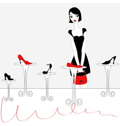 sexy girl shopping vector image