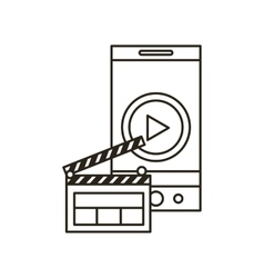 Smartphone and multimedia icons vector