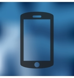 smartphone icon on blurred background vector image