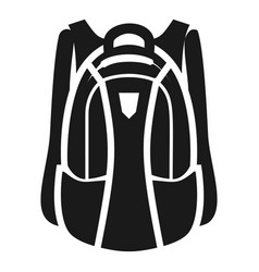 sport backpack icon simple style vector image