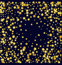 Star confetti isolated on black background vector