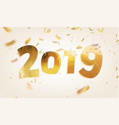 Stock 2019 happy new year vector