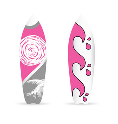 surfboard set with summer element on it vector image