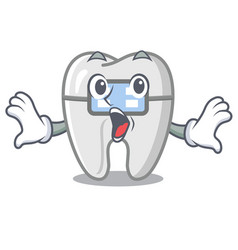 Surprised braces in a cartoon shape vector