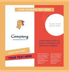 Turkey company brochure template busienss template vector