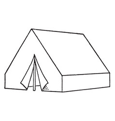 Wall tent vintage vector