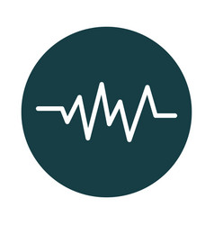 Wave frequency sound block style icon vector