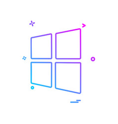 windows icon design vector image