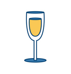 champagne cup glass vector image vector image