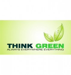 think green card vector image