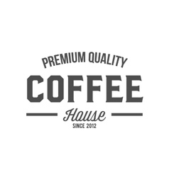 vintage coffee badge logotype vector image