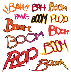 Boom text vector image vector image