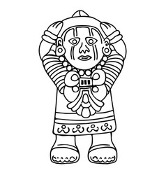 indian national drawing vector image