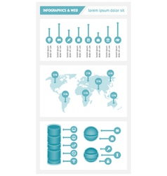 Infographics and web elements vector image