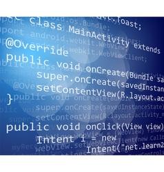 Java code vector image