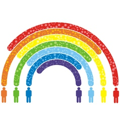 rainbow people vector image